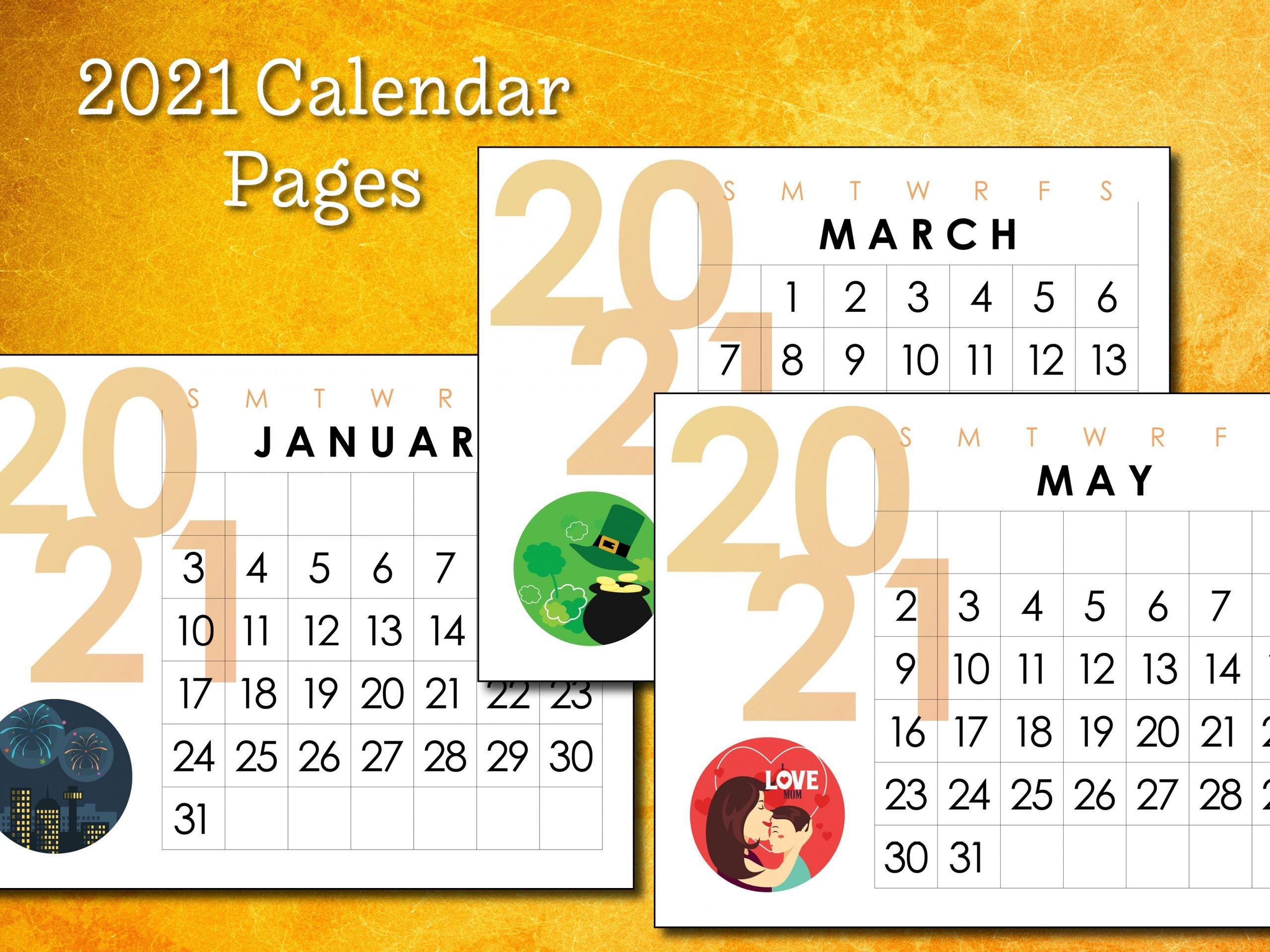 2021 Calendar Pages
